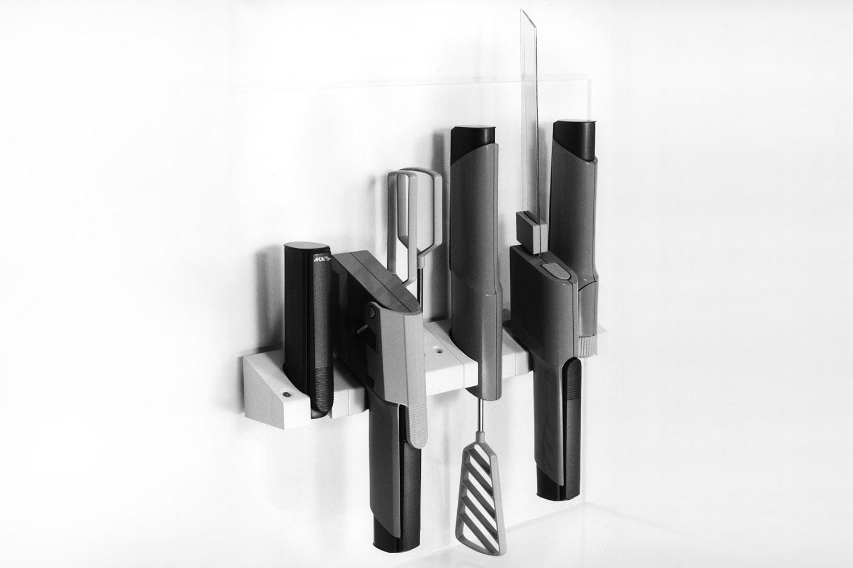 Akkugeräte-System (Gipsmodelle) . EGS (Produkt Design: Andreas Kuhrt 1988/89)