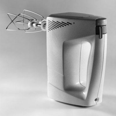Rührgerät (Gipsmodell) . EGS Elektromesser (Gipsmodell) . EGS (Produkt Design: Andreas Kuhrt 1989)