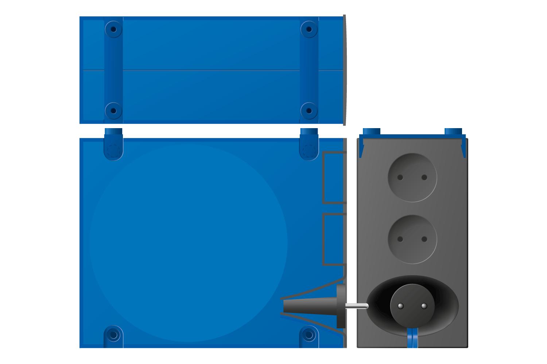 Kabelrolle (Grafik) . Atlanta Elektrosysteme (Produkt Design: Andreas Kuhrt 2001)