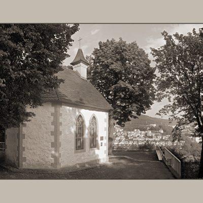 Suhl . Ottilienkapelle am Domberg . Karten für Suhler Oberbürgermeister (Foto, Bearbeitung, Gestaltung: Designakut 2006)