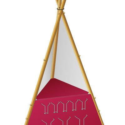 Info Tipi: Gestell (Grafik) . Tourismusamt Wartburgkreis (Produkt Design: Designakut mit Manuela Hahnebach 2006)