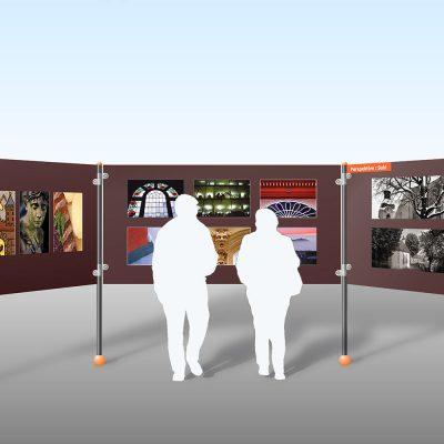 Openair-Ausstellungssystem: Ansicht (Grafik) . Stadt Suhl (Produkt Design: Designakut 2008)