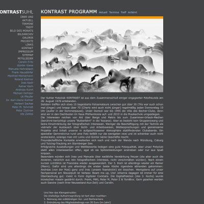 Kontrast Programm . Fotoclub Kontrast Suhl . Website (Web Design: Designakut 2009)