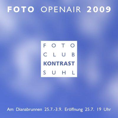 Foto Openair 2009: Plakat . Fotoclub Kontrast Suhl (Grafik Design: Andreas Kuhrt 2009)