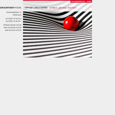 Startseite . Druckpunkt Suhl . Website (Web Design: Designakut 2010)