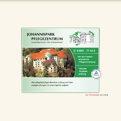Website Johannispark Suhl 2010
