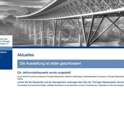 Aktuell . Museum Thüringer Wald Autobahn . Website (Web Design: Designakut 2013)