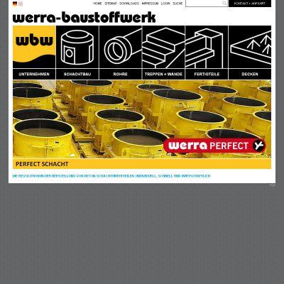 Startseite . Werra-Baustoffwerk . Website (Web Design: Designakut 2013)