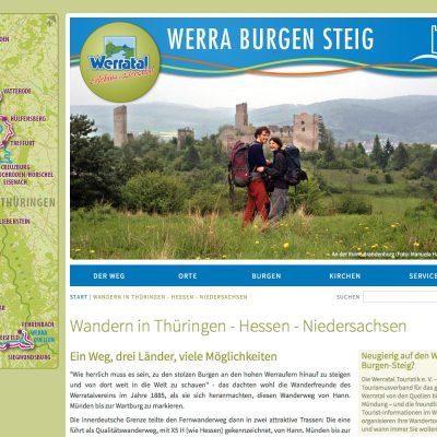 Startseite . Werra Burgen Steig . Website (Web Design: Designakut 2014)
