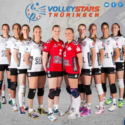 Startseite (Foto: Anja Hüttner) . VolleyStars Thüringen . Website (Web Design: Designakut 2015)