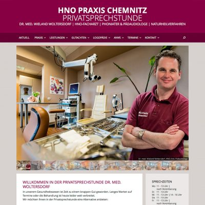Website HNO-Praxis Chemnitz 2016