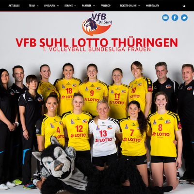 Website 1. Bundesliga VfB Suhl 2016-17