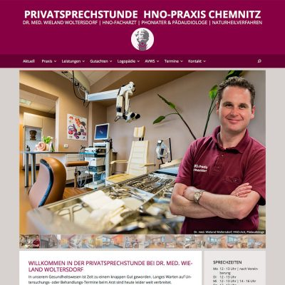 Website HNO-Praxis Chemnitz 2016-17