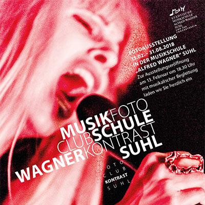 MusikFoto (Plakat) . Fotoclub-Kontrast-Ausstellung 2018 . Musikschule Suhl (Foto: Uli Pfeufer, Gestaltung: Andreas Kuhrt)