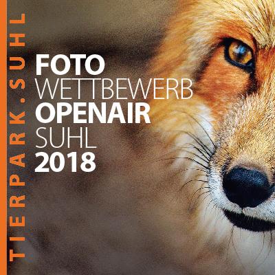 """Karte zum Fotowettbewerb """"Wildlife - Tierpark Suhl"""" 2018 (Grafik Design: Designakut 2018)"""