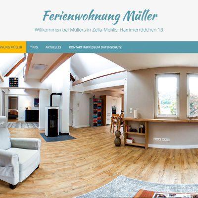 Website fewo.in-zella-mehlis.de: Startseite (Slide 11) (Webdesign: Designakut 2019, Foto: Jens Gutberlet)