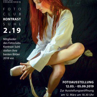 Kontrast 2.19 (Plakat) . Fotoclub-Kontrast-Ausstellung 2019 in der Musikschule Suhl (Foto: Günter Giese, Gestaltung: Andreas Kuhrt)
