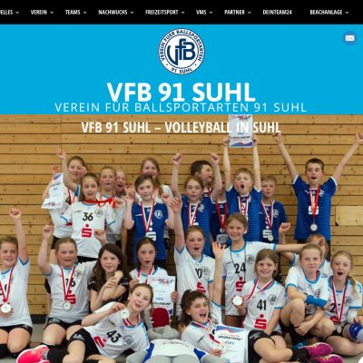 Startseite: Slider . Website VfB 91 Suhl (Web Design: Designakut 2019)