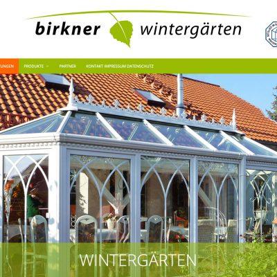 Startseite: Wintergärten . Birkner Wintergärten . Website (Webdesign: Designakut 2019, Foto: Birkner)