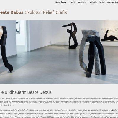 Website Debus Skulptur: Startseite (Web Design: Designakut 2020)