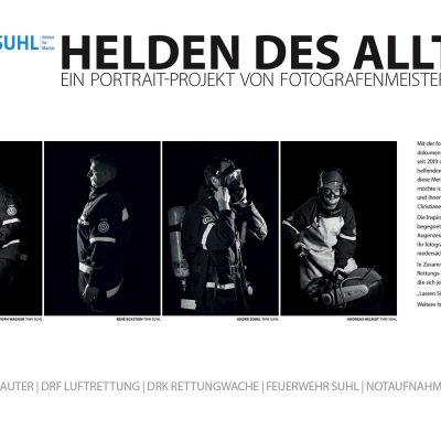 Foto Openair Suhl 2021: Helden des Alltags - Ein Portrait-Projekt von Fotografenmeisterin Christiane Neupert (Fotos: Christiane Neupert, Gestaltung: design.akut.zone)
