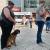 Foto Openair Suhl 2021: Helden des Alltags . Ausstellungseröffnung . Vanessa Schaupp & Haley, ASB Rettungshundestaffel Suhl (links)(Foto: Manuela Hahnebach)