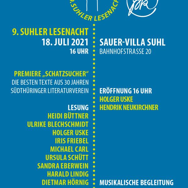 <i>Plakat</i> 9. Suhler Lesenacht <i>2021</i>